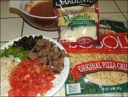 Photo Here Are Most Of The Ingredients Needed To Make A Delicious Pizza Not Shown Mushrooms And Crumbled Country Style Sausage