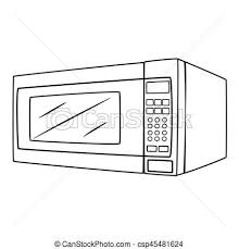 Illustration Isolated Microwave Oven Cartoon Drawing