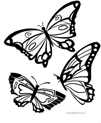 Butterfly Trend Coloring Pages Pictures