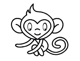 Image Of Cute Monkey Coloring Pages