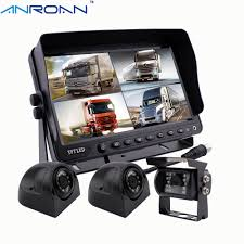 100 Rear Camera For Truck 9 Quad Split Screen Monitor Car View System Backup