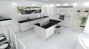 cuisine blanche ouverte sur salon cuisine laquée blanche sans poignée plan de travail fin bientôt à