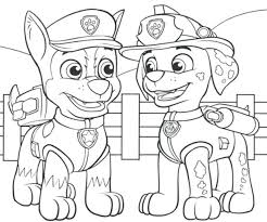 Paw Patrol Chase Drawing At Getdrawings Ryder Coloring Page