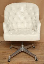 Playseat Office Chair White by Furniture Dazzling White Upholstered Computer Roller Chair With