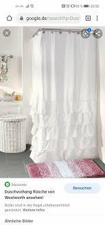woolworth duschvorhang rüschen weiß shabby chic