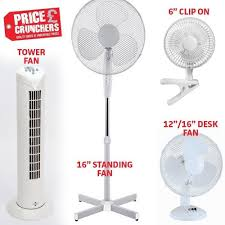 12 Oscillating Desk Fan by Oscillating Portable Electric Tower Desk Pedestal Clip On Usb Fans