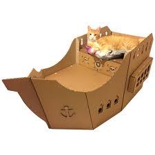 100 Design A Pirate Ship Cardboard Cat House