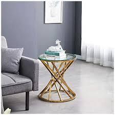 jymtom runder couchtisch beistelltisch beistelltisch edelstahl schreibtisch möbel hellgrau gehärtetes glas teetisch für