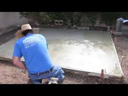 diy how to pour a concrete slab for your shed youtube