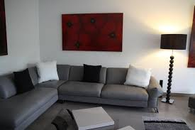 deco canapé gris eblouissant canape gris et blanc moderne deco gris et bleu dco salon