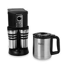 Hamilton BeachR Stay Or GoR Custom PairTM Thermal Stainless Steel Coffee Maker
