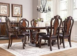 Raymour And Flanigan Round Dining Room Tables by Palazzo 7 Pc Dining Set Mocha Raymour U0026 Flanigan