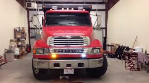 Dump Truck Install W/ Feniex Apollo F6 Lights - YouTube