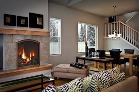 Living Room With Fireplace In The Middle by Gas Fireplace Photo Gallery Mendota Hearth