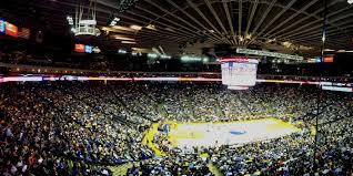 Heres The View From Our Suite Of Basketball Court Below Warriors Won 121 104