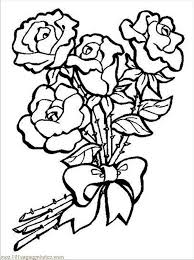 Lovely Rose Flower Coloring Pages Sheets A Z Printable
