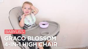 Graco Blossom 4-in-1 High Chair Review - YouTube