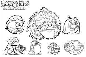 Angry Birds Star Wars Coloring Pages All Characters