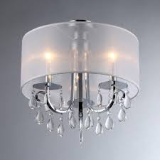 Home Depot Tiffany Style Lamps by Warehouse Of Tiffany Muses 3 Light Chrome Chandelier With Shade