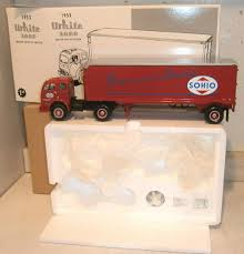 First Gear Diecast 1:34 Scale 1953 White 3000 Sohio Tractor Trailer ... 1951 Ford Diecast Remington Dove Delivery Truck 1994 First Gear1 First Gear Mack Rmodel Dump Truck Wplow Dot Paystar Orange 134 No New Arrivals White On White Peterbilt Lowboy Truck With A Road Tech Diecast Of A Esl Timstoys1 Flickr Scale Mr W Custom Handbuilt Recycle Gear Transport Trucks 3 Amazoncom Waste Management Front End Loader Gainesville Center Die Cast Models Trucks In Ga Granite Redwhiteblue Irbic Toys Awesome Intertional Kb