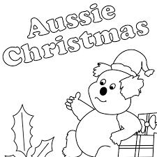 Aussie Christmas Colouring Sheet