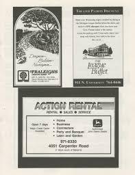 Cartner Christmas Tree Farm by Ann Arbor Civic Theatre Program The Nerd September 15 1993