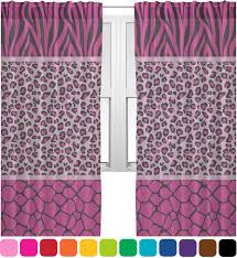 Triple Animal Print Sheer Curtains Personalized YouCustomizeIt