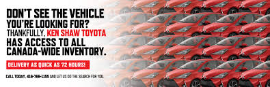 100 Cars Trucks For Sale New SUVs For In Toronto Ken Shaw Toyota