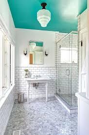 aménagement salle de bains turquoise orange 25 idées