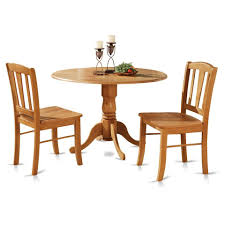 100 Round Oak Kitchen Table And Chairs 3pc Round Pedestal Drop Leaf Kitchen Table 2 Chairs Solid Wood