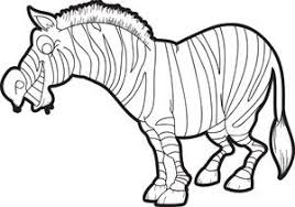 Printable Cartoon Zebra Coloring Page For Kids