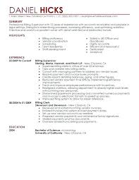 Sample Medical Coding Resume For Coder Best Legal Billing Clerk Example