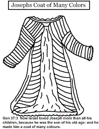 Josephs Coat Of Many Colors Coloring Pages And Joseph Page