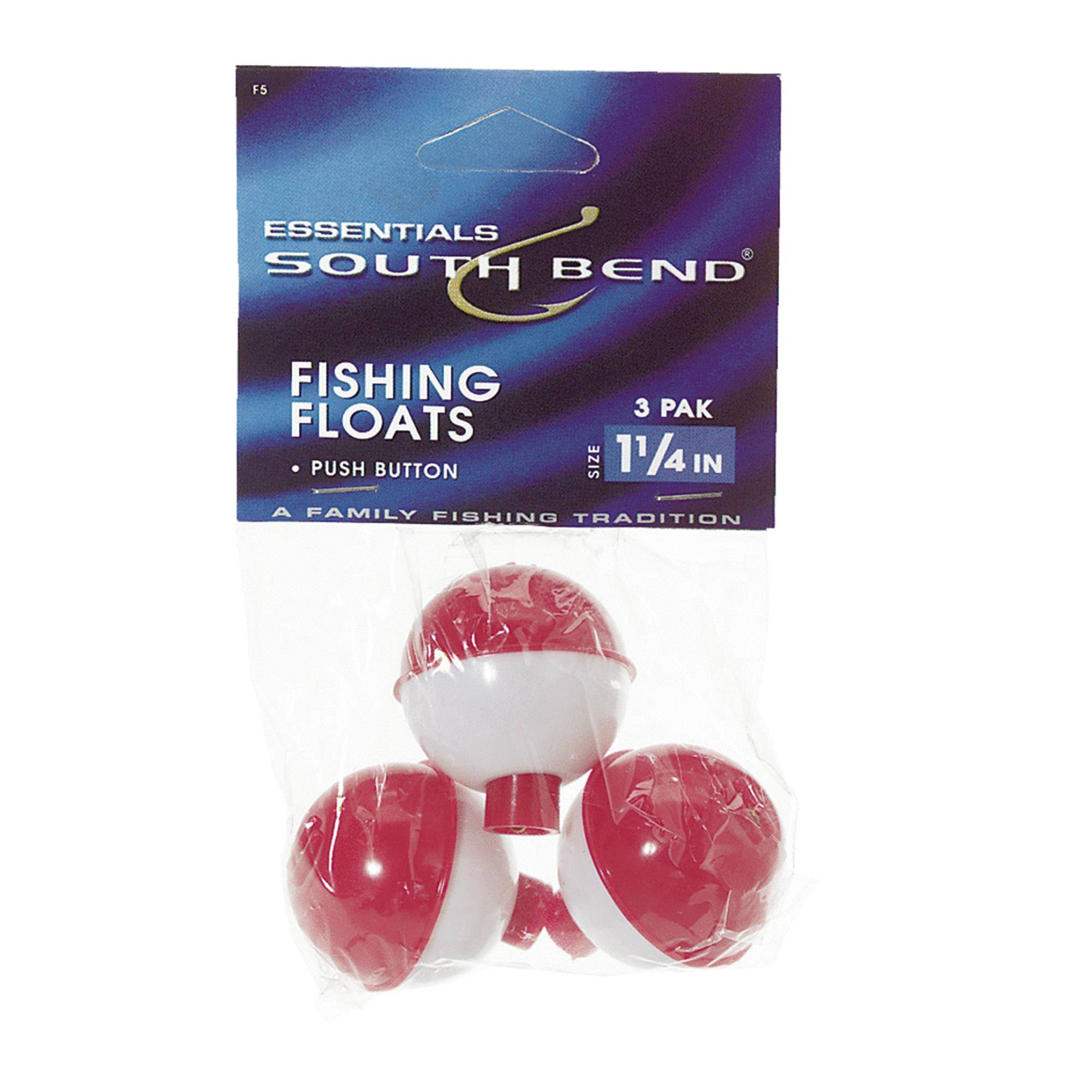 South Bend Push Button Float - Red/White