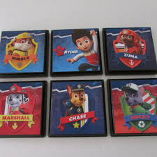 Paw Patrol Kids Room Wall Plaques Set from JustForYou22