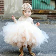 Lovely Puffy Tulle Ball Gown Flower Girl Dress Jewel Lace Long