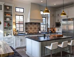 countertops with light cabinetry mixes well with the graphic