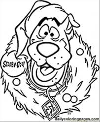 Print Out Scooby Doo Wreath Christmas Coloring Pages