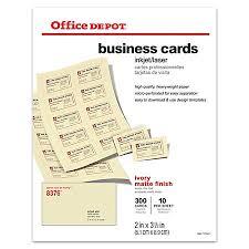 fice Depot Brand Matte Business Cards 2 x 3 12 Ivory Pack 300