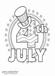 Printable Coloring Page Fourth Of July