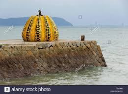 Yayoi Kusama Pumpkin Sculpture by Pumpkin U0027 Sculpture By Yayoi Kusama On Naoshima Island In Japan