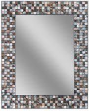 Bathroom Mosaic Mirror Tiles by Elegant 30 X 24 In Wall Mirror Tile Bathroom Earthtone Mosaic
