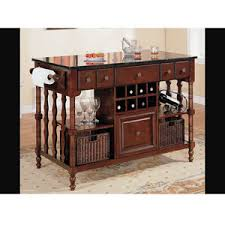 Kitchen Island Ls Kitchen Island Cart Wood Finish Marble Top 910029 Co