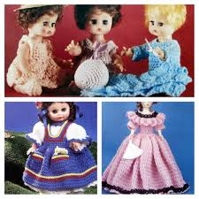 Crochet Doll Clothes Patterns Lot Of 3 Vintage Leaflets Etsy