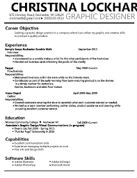 Graphic Design Resume Objective Examples 0