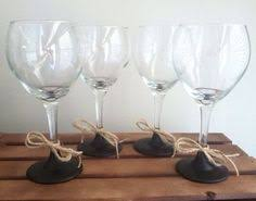 4 Rustic Chalkboard Wine Glasses By KatieRoseCreationz
