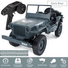 100 Truck Suspension Mini Military Jeep Remote Control Buggy 4 Wheel Drive RC