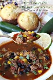 Slow Cooker Chili With Black Beans Corn