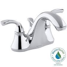 Kohler Coralais Faucet Bathroom by Kohler Coralais 4 In 2 Handle Low Arc Bathroom Sink Faucet In