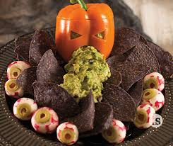 Picture Of Pumpkin Throwing Up Guacamole halloween guacamole tastefully simple